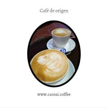 Las cafeterías de tercera ola ofrecen café de origen. Aquí dos excelentes cappuccinos en #caroaicafe
