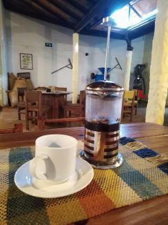 Café preparado en Prensa Francesa - Café versus covid 19