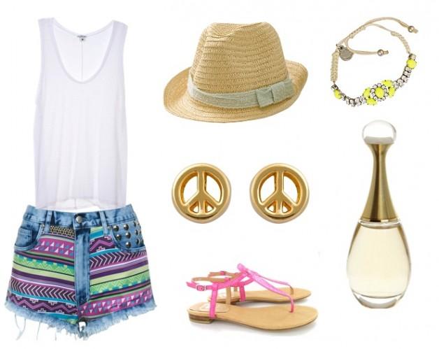 look-inspiração-verão-peace-and-love-short-jeans-bordado-bia-moraes-acessórios-blog-carola-duarte