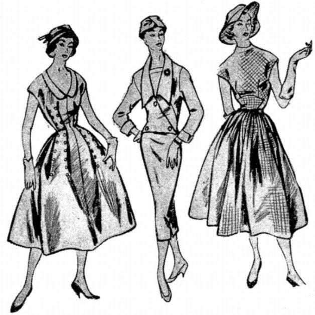 modelos-de-roupas-dos-anos-50-saia-midi
