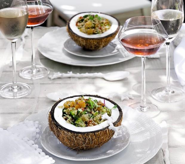 receita diferente e sofisticada de salada de quinoa