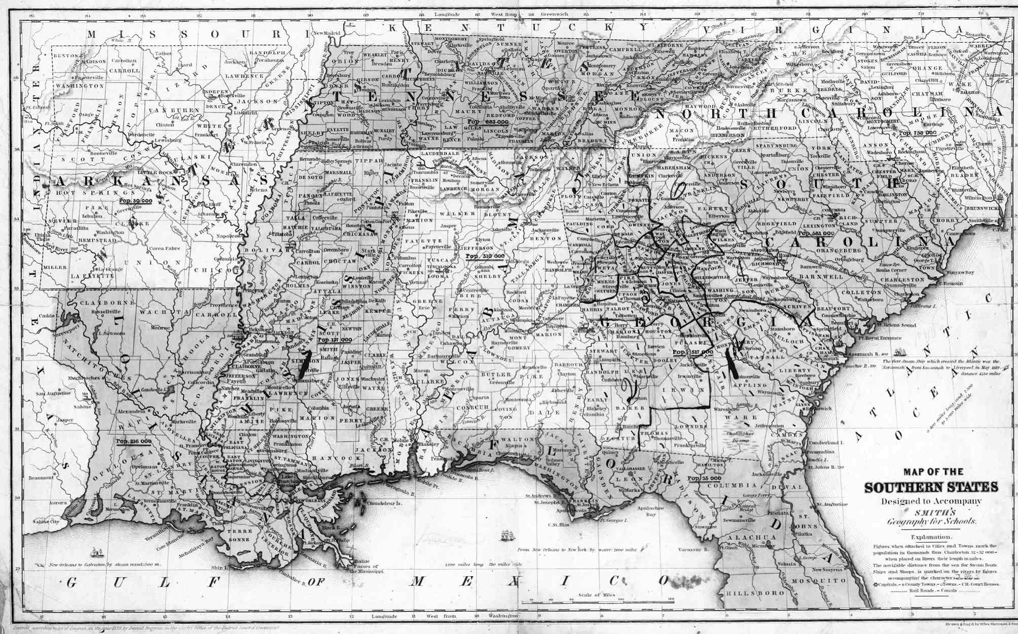 Map Of The Southeast