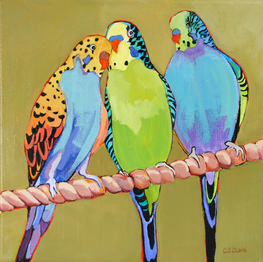 Harmonizing - painting by Carolee Clark