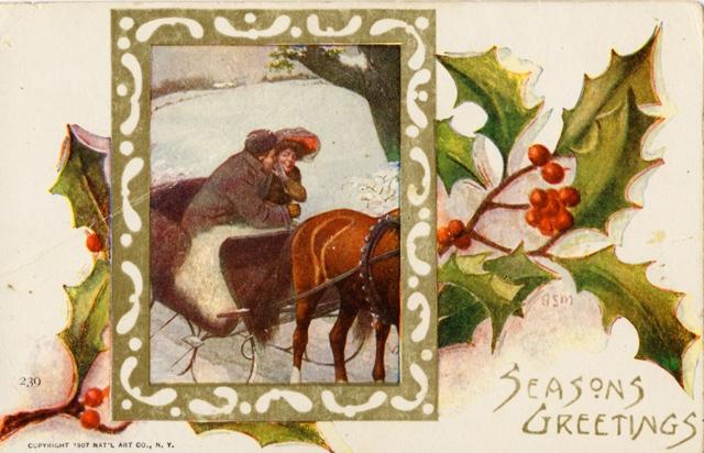 1907-1915 Christmas postcard