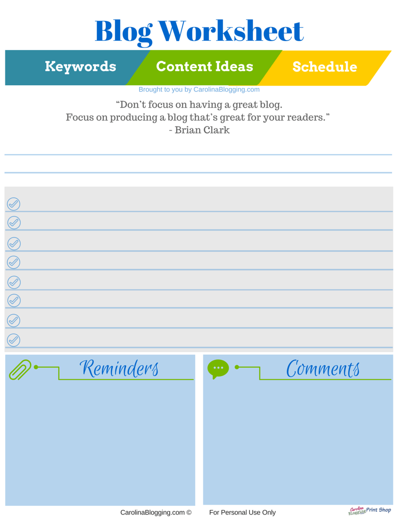 worksheet Keyword Worksheet blog worksheet carolina blogging