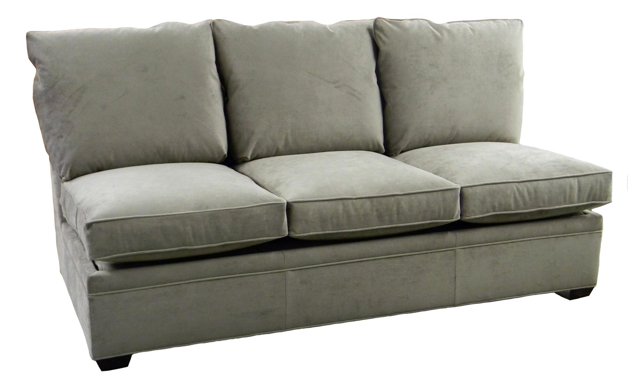Byron Sectional Armless Queen Sleeper Sofa Air Mattress Carolina Chair North Carolina American Usa Furniture Custom