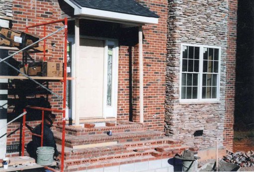 Brick and Stacked Stone Home Facade
