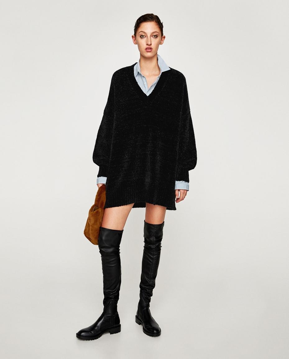 maxi maglia nera