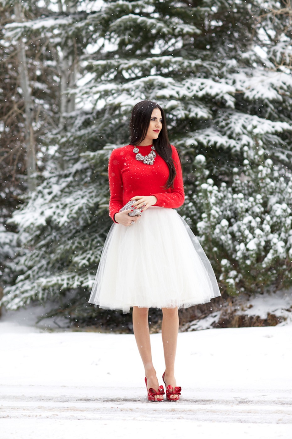 Look natalizio rosso