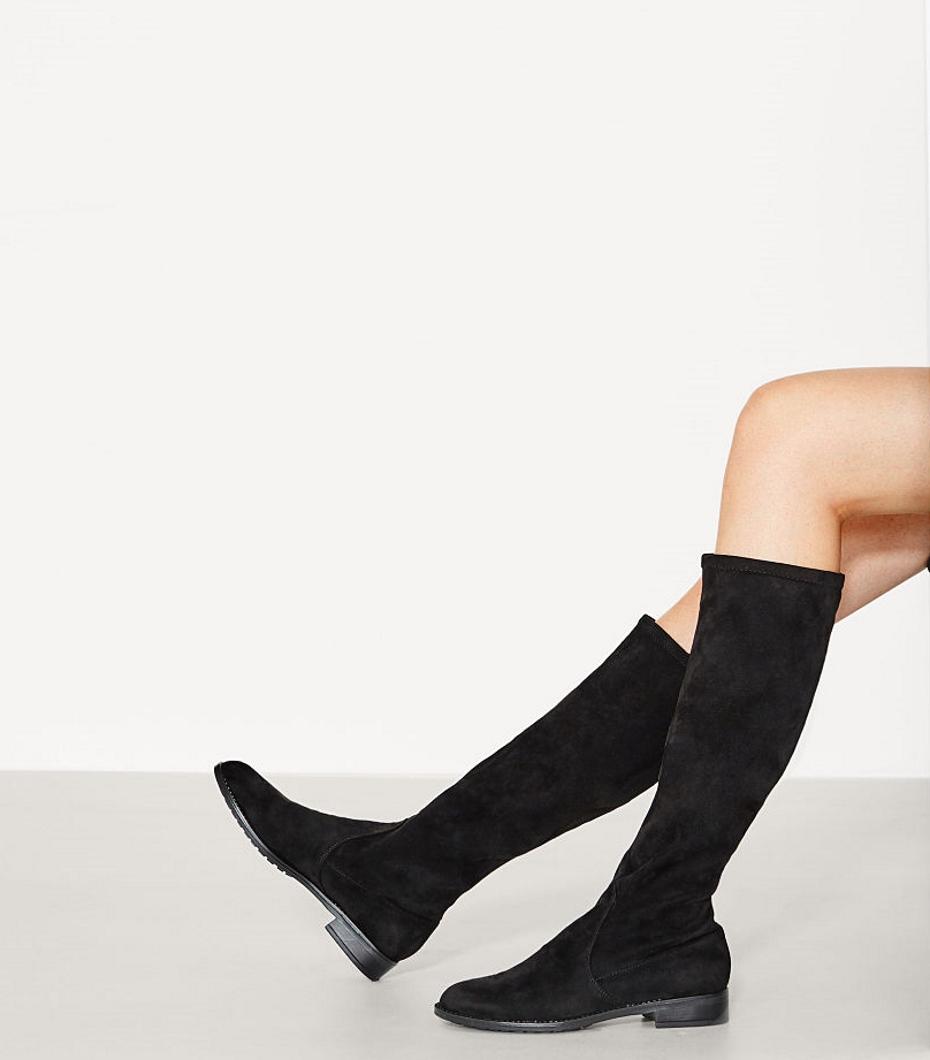 Stivali neri al ginocchio