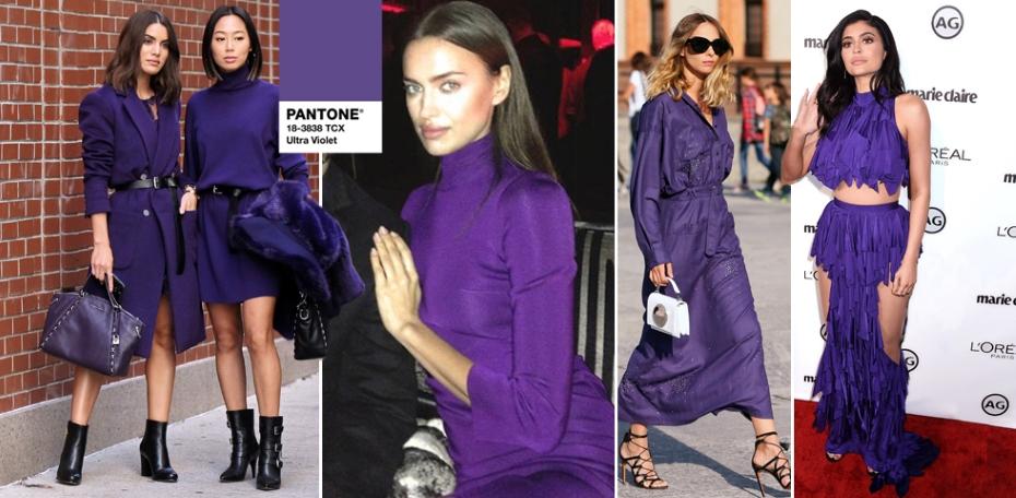 celebrità che indossano ultra violet