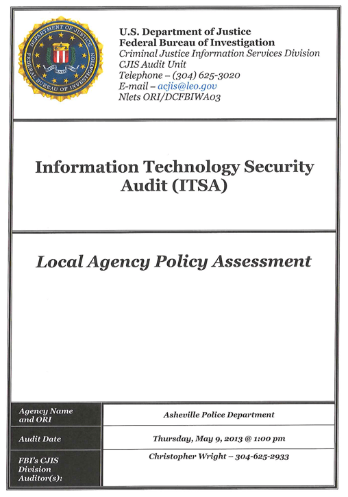 Information Technology Security Audit