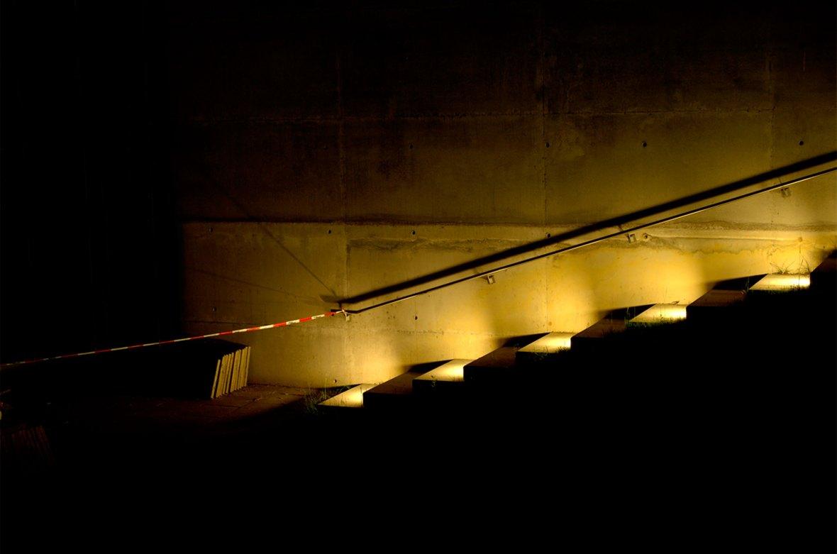 Treppenstufen mit Licht