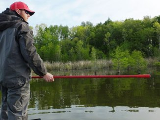 With bass moving into extremely shallow water for the spawn, stealth tactics like a push pole instead of a trolling motor can make a big difference.