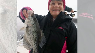 Shearon Harris Lake crappie are biting