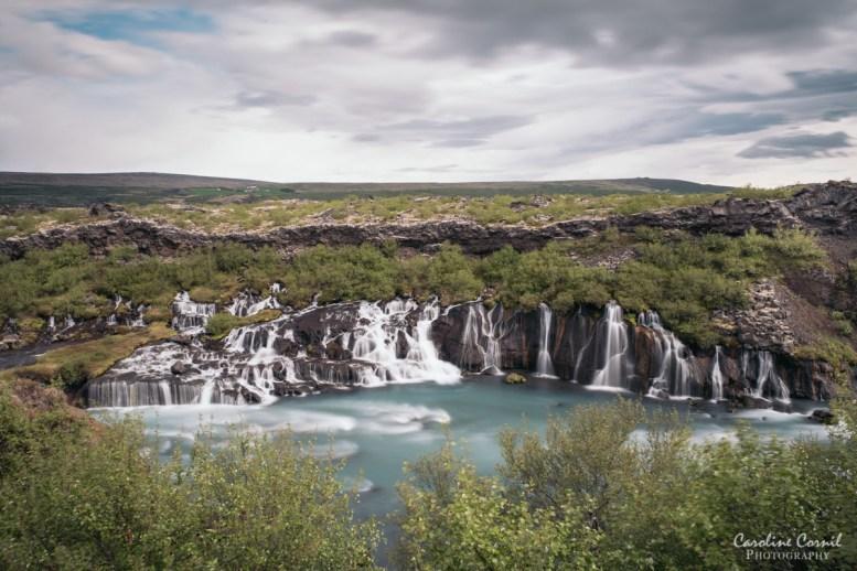 Iceland Hraunfossar waterfall