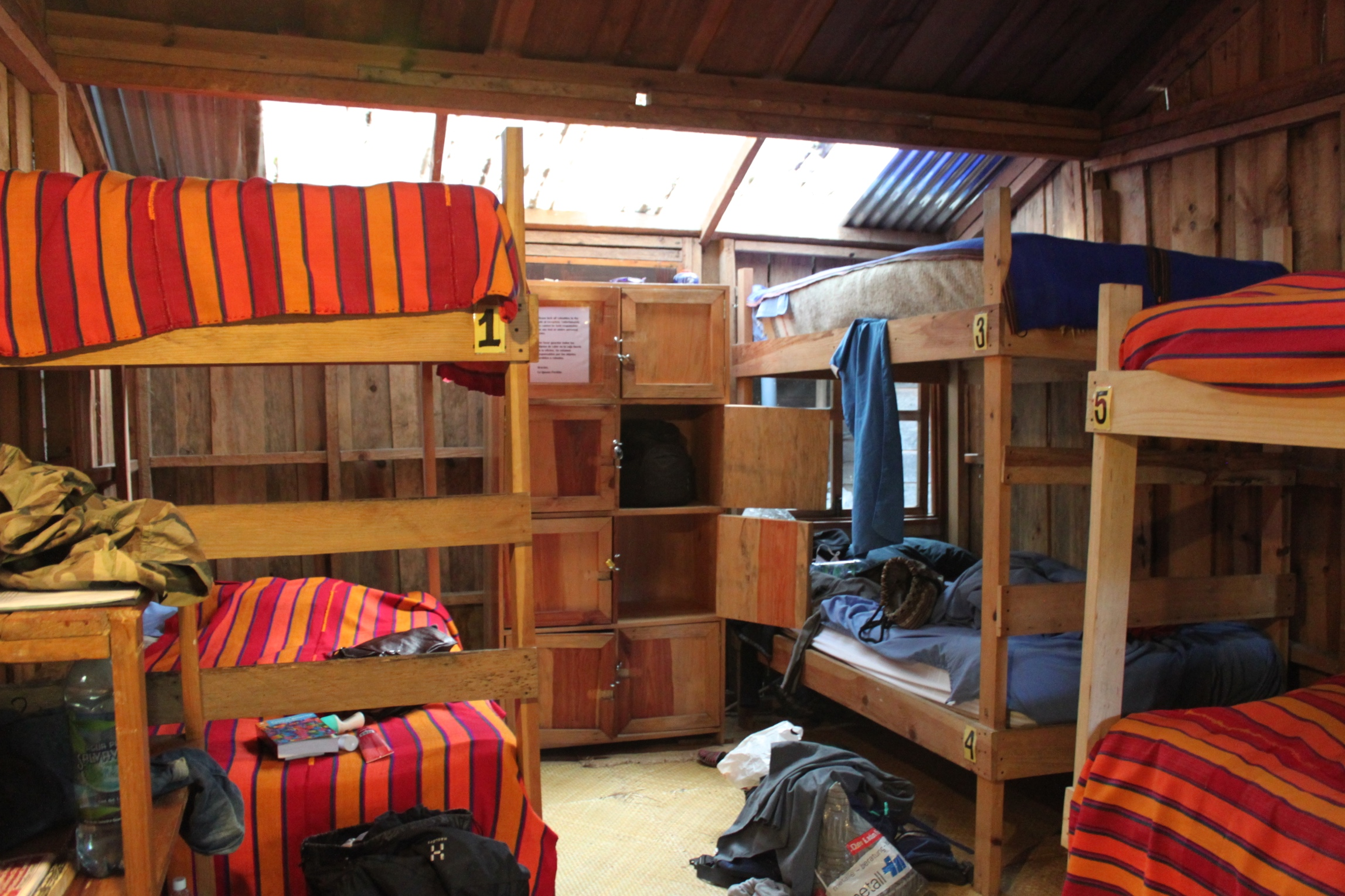 Ideal My room was a wooden bungalow with a corrugated tin roof and bunk beds inside There was no air conditioner or plugs and only a single light