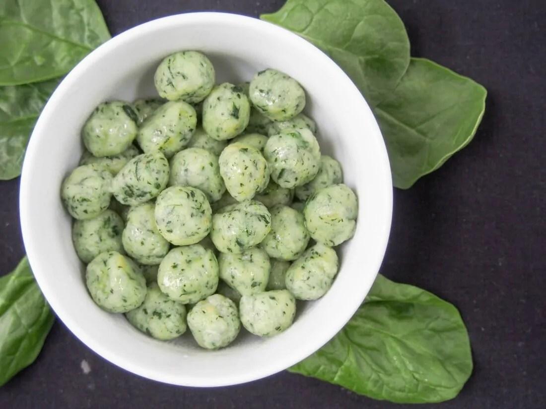 Potato spinach gnocchi