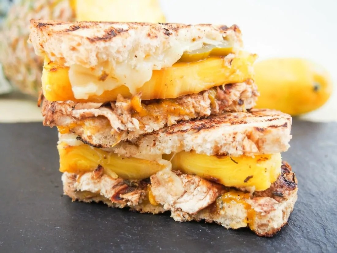 """The Jammin' Jamaican"" chicken grilled cheese"