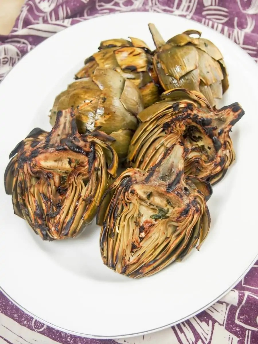 grilled artichokes - a tasty appetizer worth the little bit of fiddliness!