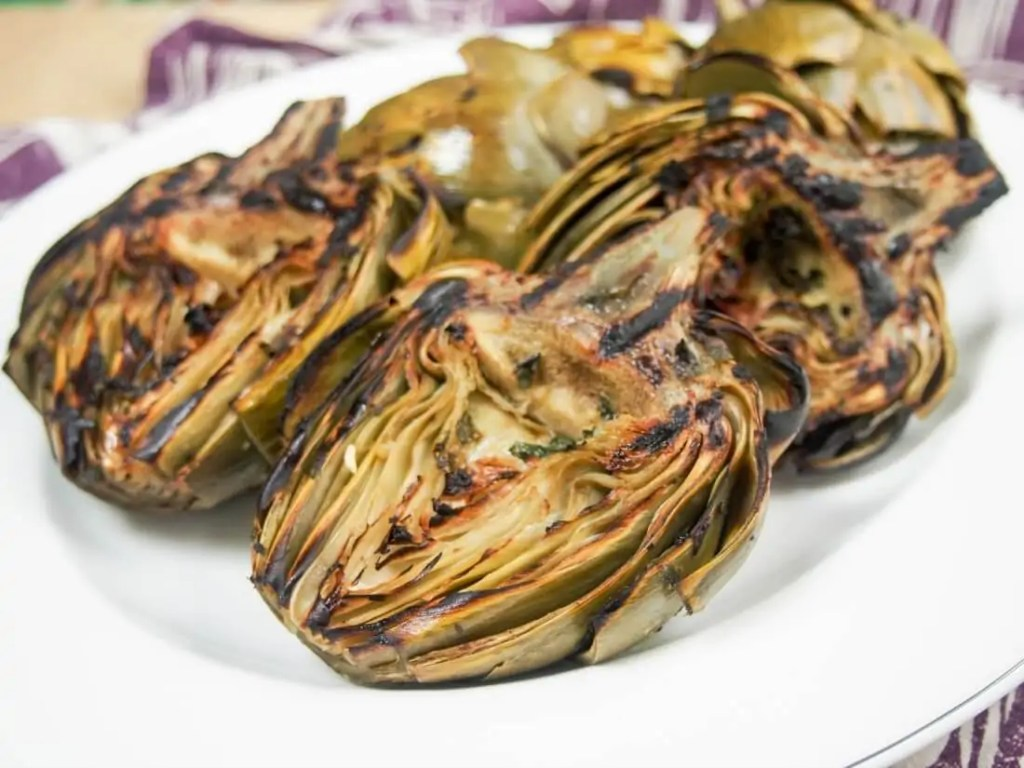 Grilled artichokes #BBQWeek