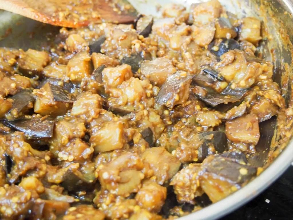 brinjal pickle (Indian eggplant relish/aubergine chutney)