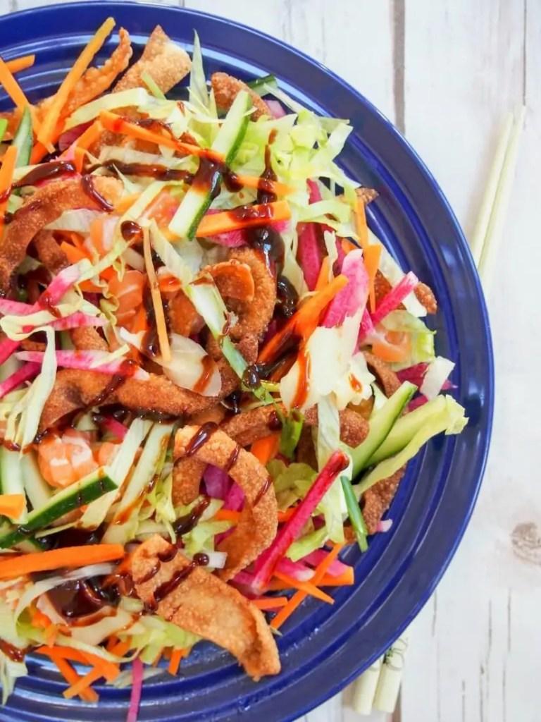 Yee sang, Chinese salad (aka 'prosperity toss')