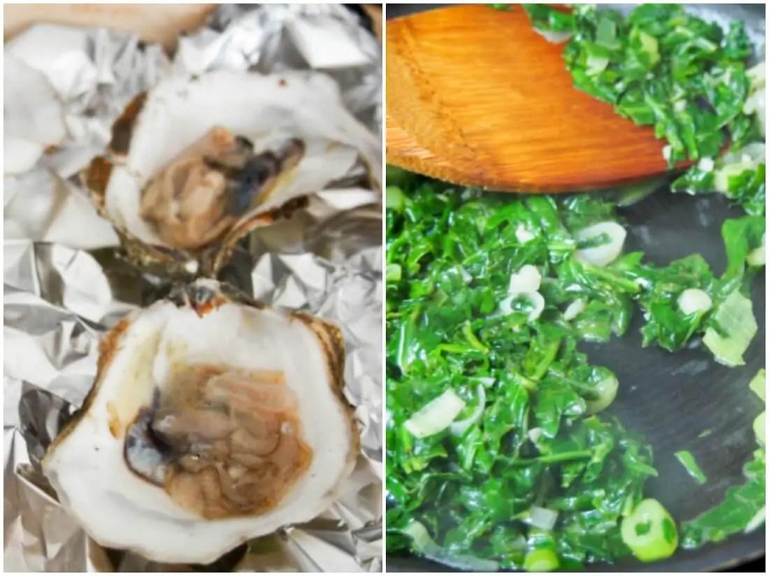 making oysters Rockefeller