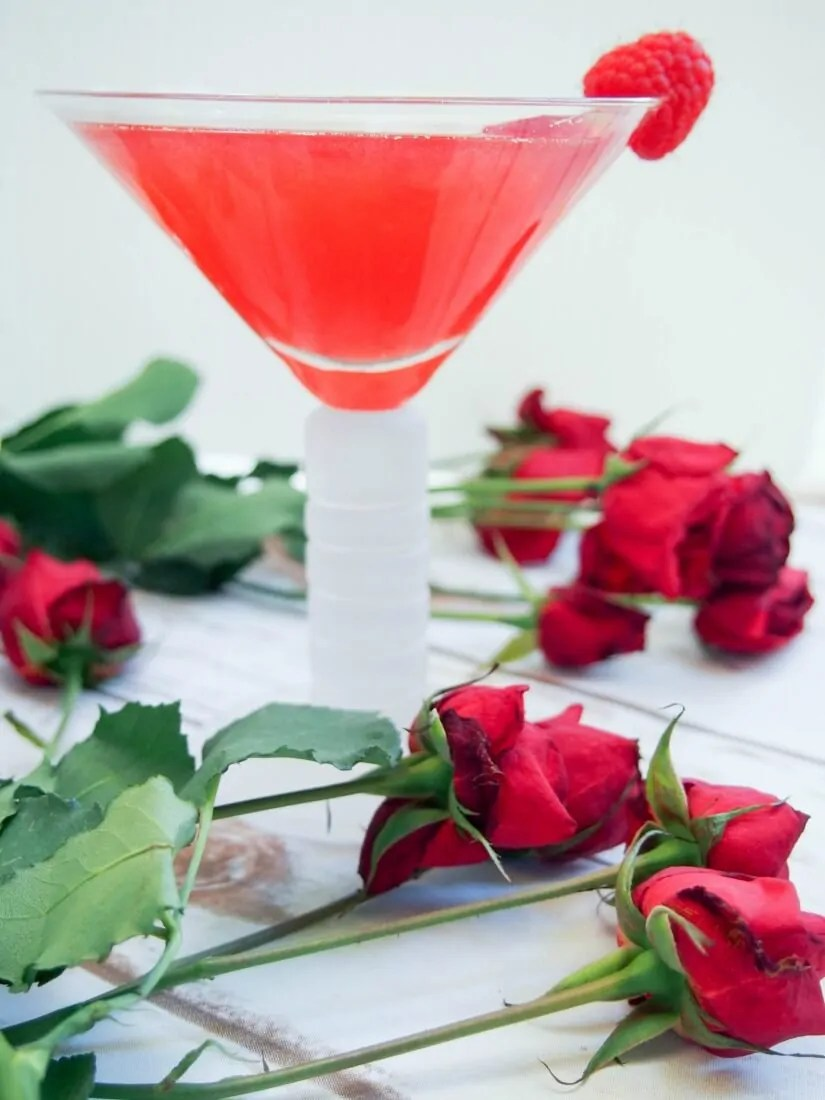 the blushing rose - a vermouth cocktail