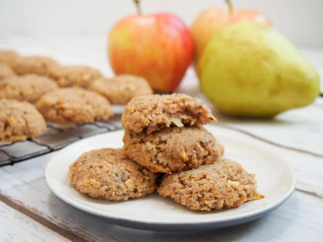 Healthy apple oatmeal cookies (GF, vegan)