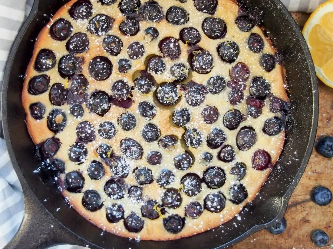 Blueberry clafoutis (with gluten free option)