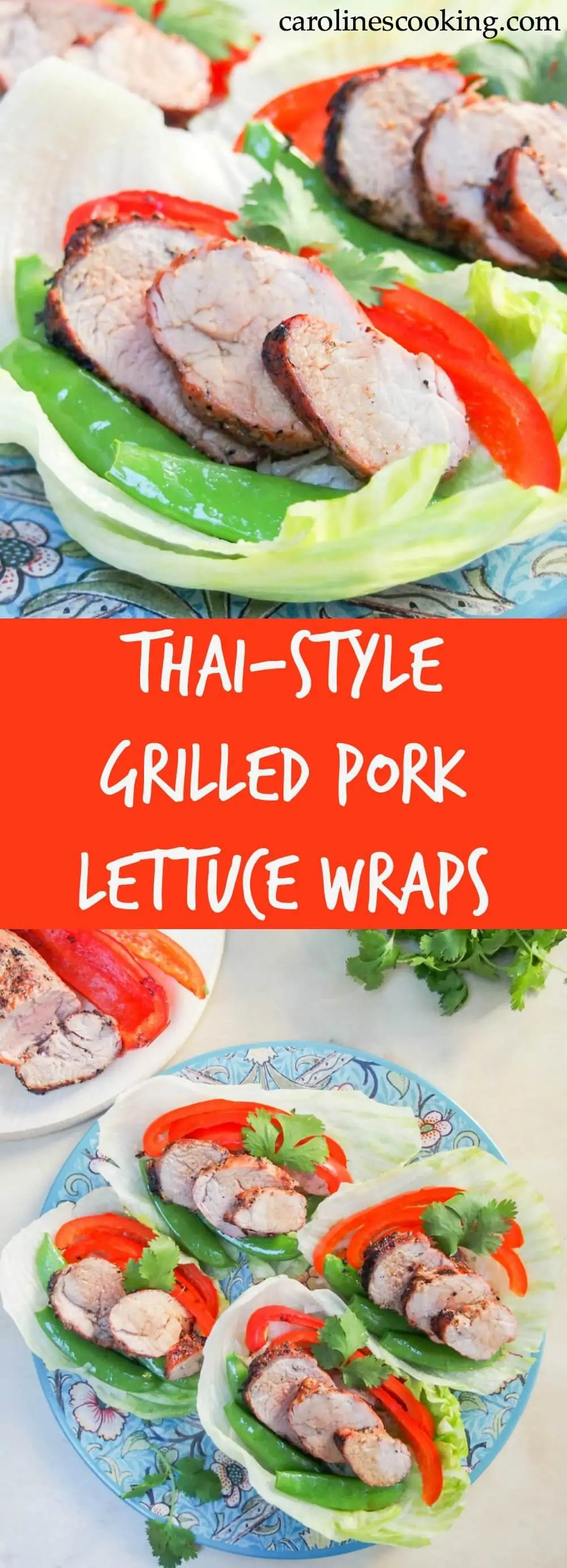 These Thai-style grilled pork lettuce wraps are incredibly easy to make, packed with veggies and delicious flavors. They make a great, light summery meal. AD @Walmart @SmithfieldFoods