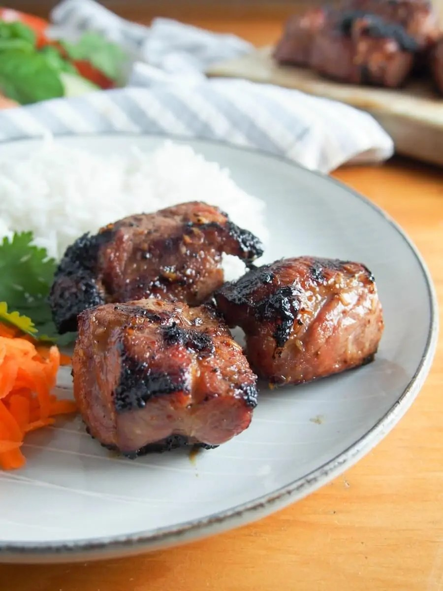 Vietnamese lemongrass pork - so much flavor from a tasty marinade, and easy to make.