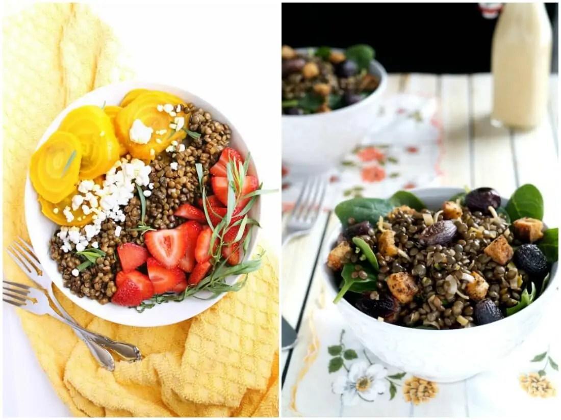 lentil salads - make ahead salads