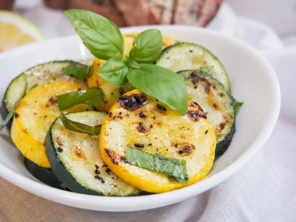 Marinated zucchini and summer squash #SundaySupper