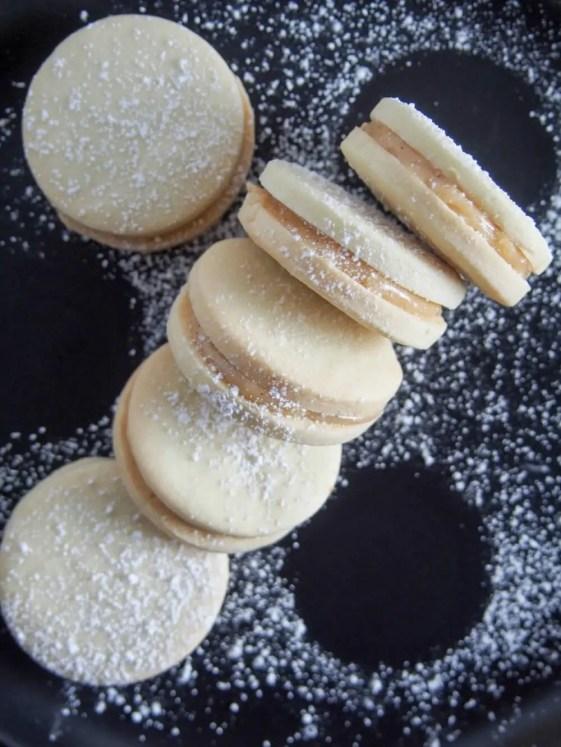 Alfajores - dulce de leche sandwich cookies