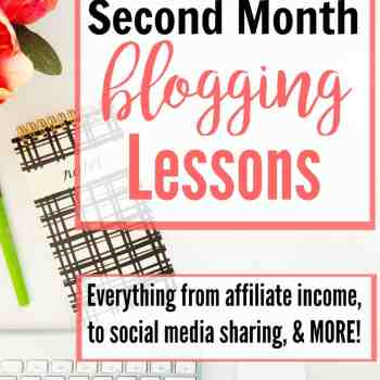 If you want to make an income from your blog, you need to check this out!! She shares her second month blogging lessons, including affiliate income and her social media schedule. Plus, a few tips I'm glad I know! I don't want Facebook to get grumpy with me!!