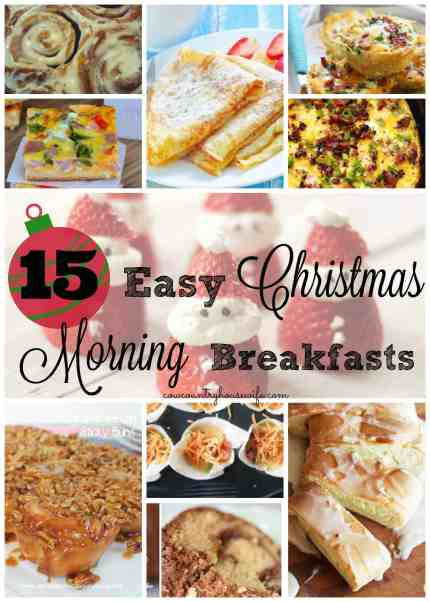 These are the perfect way to start Christmas morning! These 15 Easy Christmas Morning Breakfasts look delicious and I can't wait to try them out for my family. I know this will make my family's Christmas that much more special!
