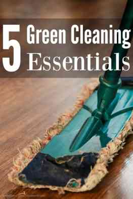 You can clean your entire house with these 5 green cleaning essentials! And I bet you have them in your kitchen right now!