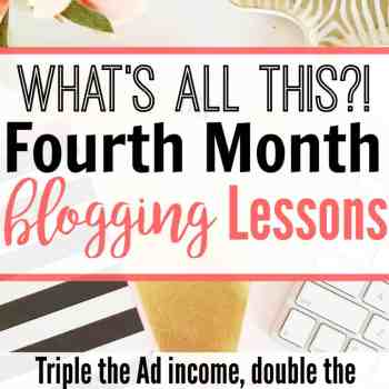 What's All This? Fourth Month Blogging Lessons