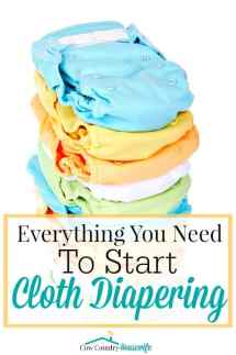 """Wait... you WASH your diapers?!"" Yes and I LOVE it! Cloth diapering has been one of the best things I've done! And It's saved me a TON of money! Here's everything you need to get started..."