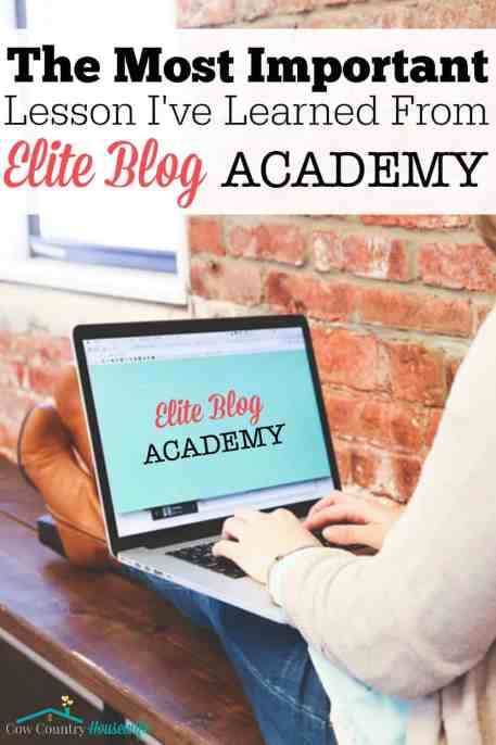 Taking the Elite Blog Academy course was the best decision I've ever made for my blog! But I really want to share with you the most important lesson I've learned from Elite Blog Academy. When it comes to making an income from your blog, the most important lesson ISN'T about making all the money. No, it's even more important than that!