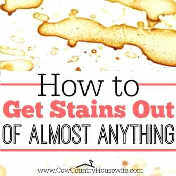 I never knew that you could get stains out like this! I need this for my messy kids!