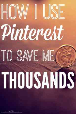 The best way to save money using Pinterest. She saved her family thousands of dollars using Pinterest. She shares the Top 30 frugal pinners to follow to help save money and live well!
