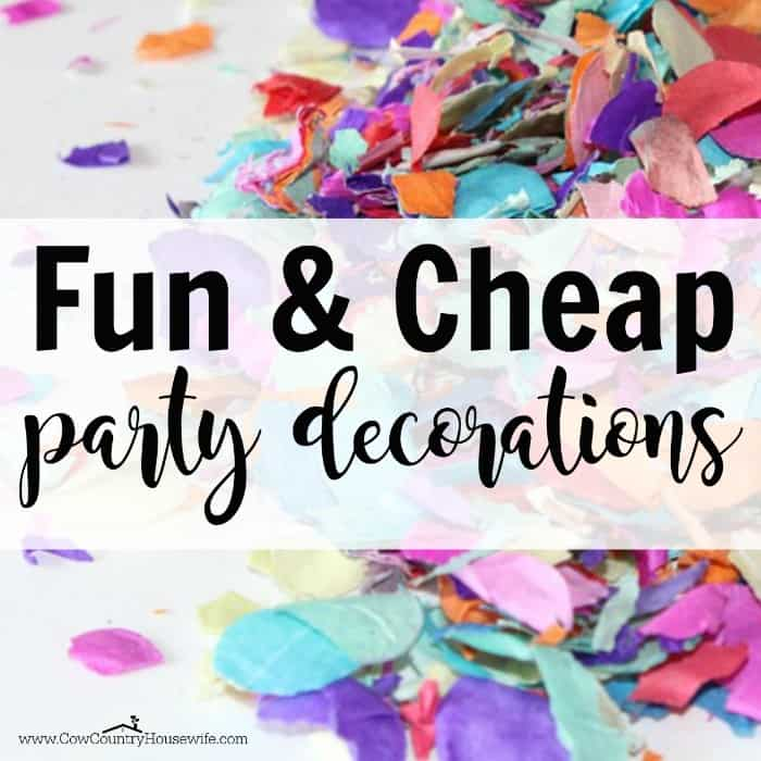 Fun And Cheap Diy Party Decorations For All Celebrations