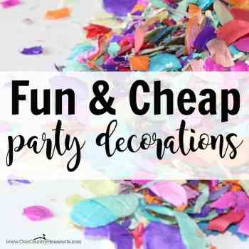 cheap DIY party decorations