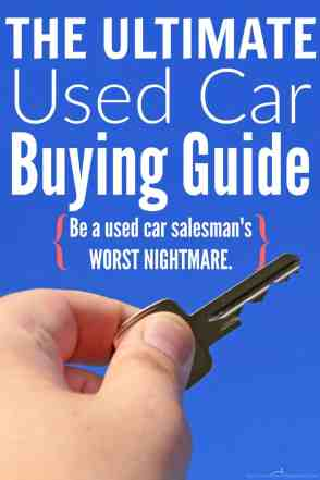 Don't buy a car without reading this! She covers everything you need to do before buying a used car. You'll never buy a lemon or a clunker when you come armed with everything you need to make the best decisions!