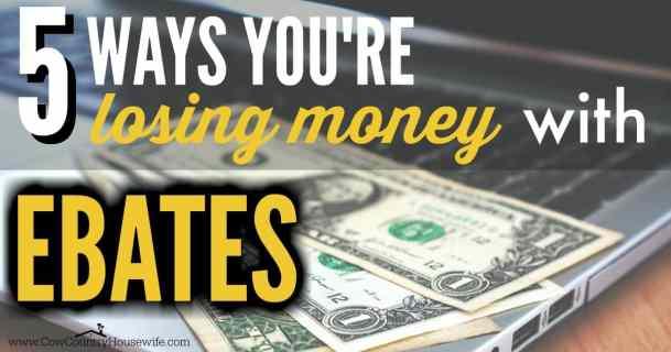 Ebates | Make extra money | Save money | Cashback | Losing money | Wasting money | Extra income