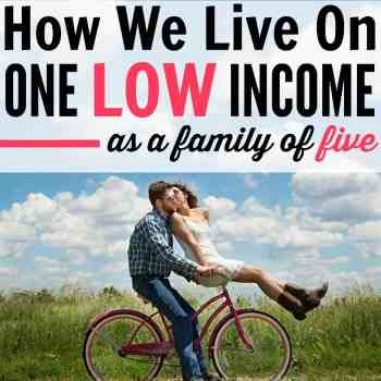 How to live on one income. This family of five lives on one low income and still manages to save money and live frugally. Frugal living is easier when you have a goal. Save money, live fully. How to live on one low income, How To Budget Money On Low Income