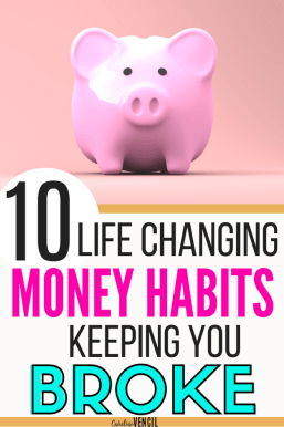 Check out these frugal money saving habits that you need to start today if you are broke or are living paycheck to paycheck. Just living on one income is hard, too. but if you can learn to master these skills, you'll be able to save money fast and easy! #frugal #savemoney #money